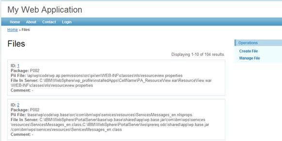 图 6. 生成的 Files 维护界面